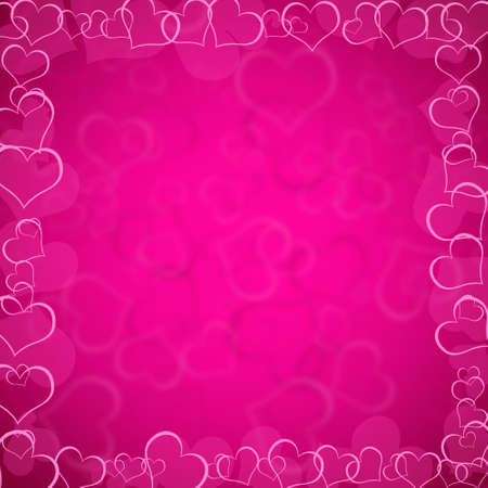 pink valentines background with hearts photo