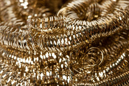 scrap gold: Scrap gold Shavings background Stock Photo