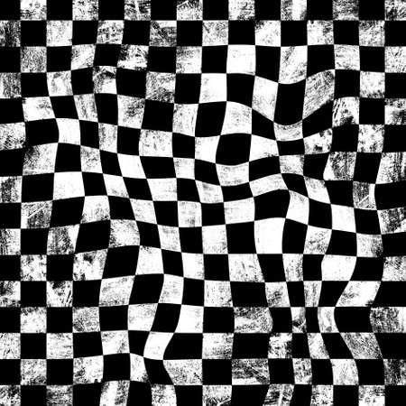 checkerboard: grunge chessboard background