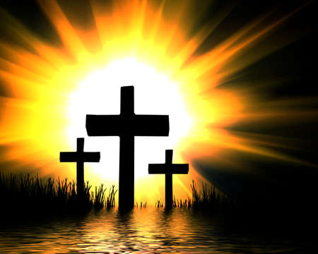 kruzifix: kreuzen in Wasser