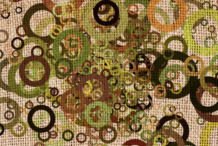 worn structure: abstract grunge circles on canvas