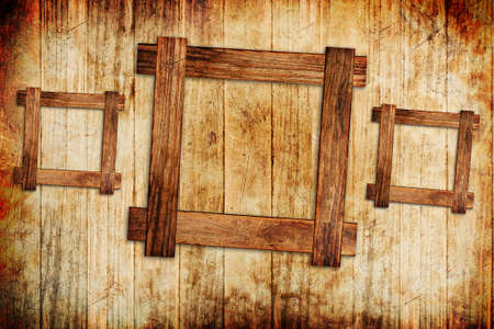 plated: wood frame background