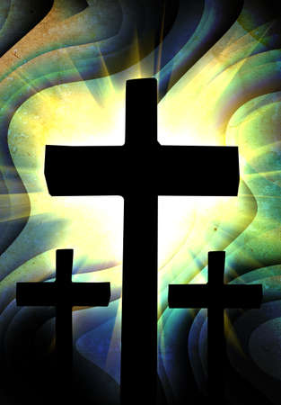 blue grunge Cross background photo