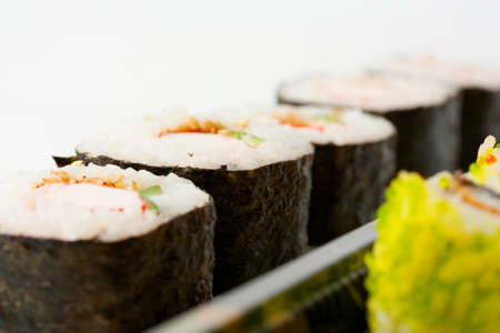 traditional japanese rolls close up photo