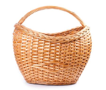 splint: wicker basket isolated on white background