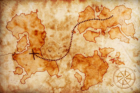treasure map: old treasure map