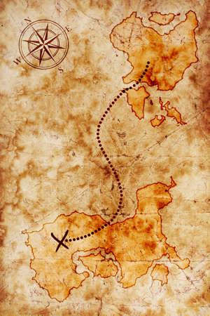 isla del tesoro: viejo mapa del tesoro