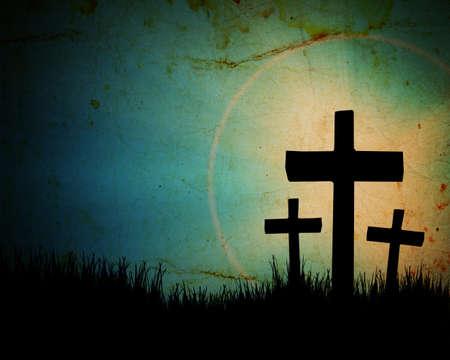cruz religiosa: cruzar en el fondo del grunge