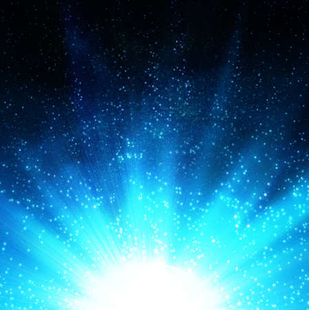 glowing blue star Stock Photo