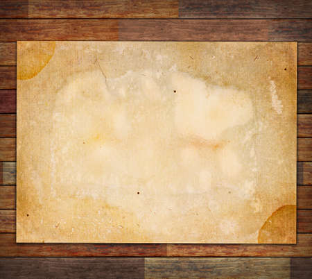 Old paper on the wood background Stock Photo - 12705248