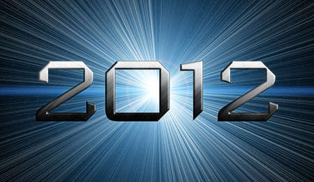 2012 year of the apocalypse blue background photo