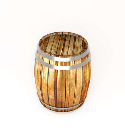 empty tank: Wooden barrel