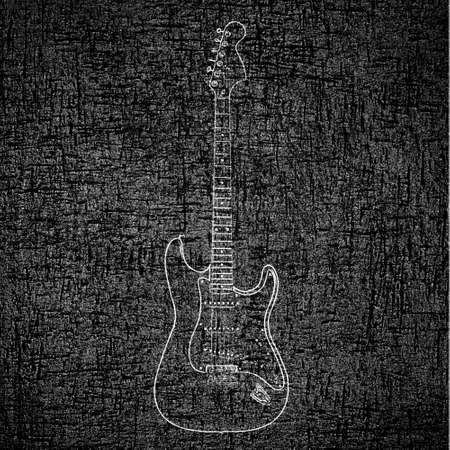 music poster: Electric guitar background