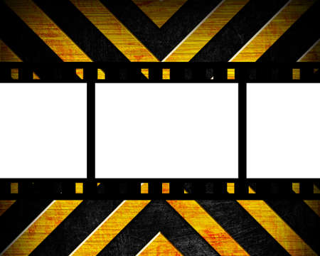 old film strip on the danger background photo