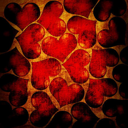 red hearts on a grunge background photo