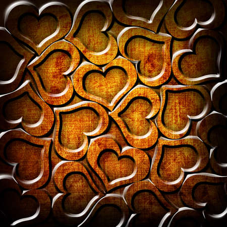Valentine's day orange background Stock Photo - 12705985