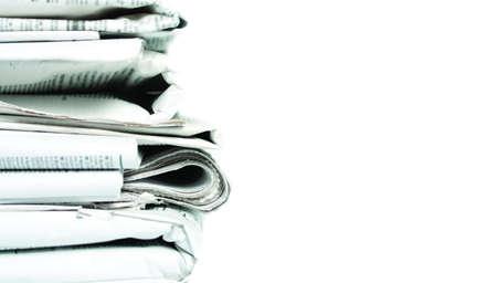 everyday jobs: newspaper stack Stock Photo