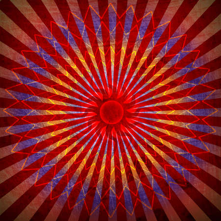 red spirutal sun background Stock Photo - 12705602