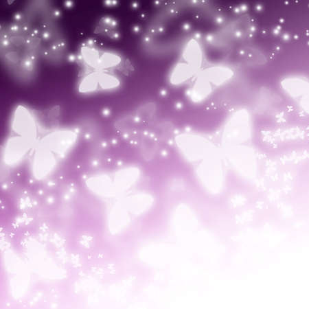 abstract light background with butterflies Stock Photo