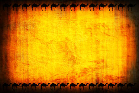 egypt background with camels photo