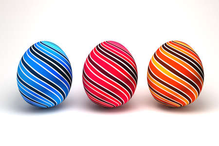 isolated 3d Easter eggs photo