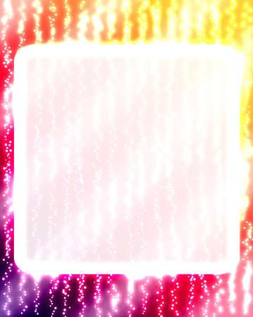 laser tag: glowing frame