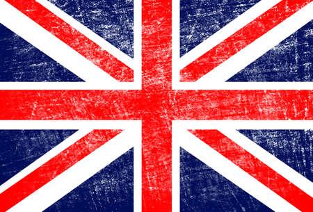 worn structure: grunge England flag