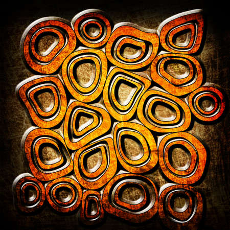 orange circles grunge background photo