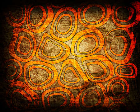 orange circles grunge background Stock Photo - 12711528