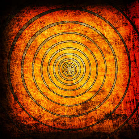 earthy: orange circles grunge backgrouns Stock Photo