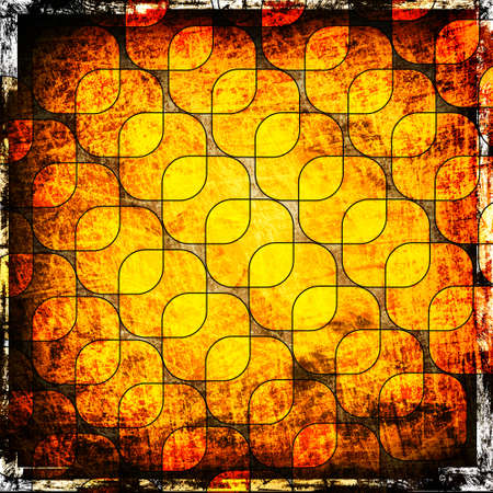 orange squares on the grunge background Stock Photo - 12711550