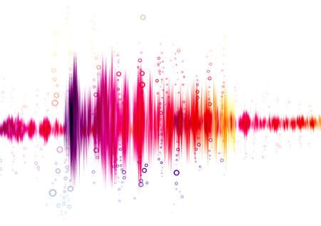 geluidsgolf op een witte achtergrond Stockfoto