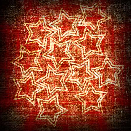 stars on a red grunge bacground photo