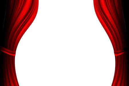 red theater curtain Stock Photo - 12706221