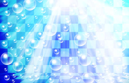 wet flies: water bubbles on chessboard background Stock Photo