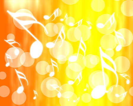 abstract musical orange background  photo