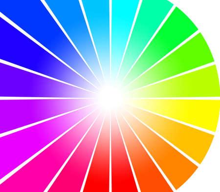 抽象的なスペクトル光線