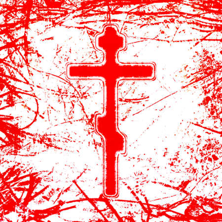 good friday: bloody cross illustration Stock Photo