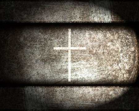 cross on a steel background Stock Photo - 12711534