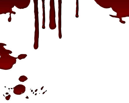 bloodstains: drop of blood isolated Stock Photo