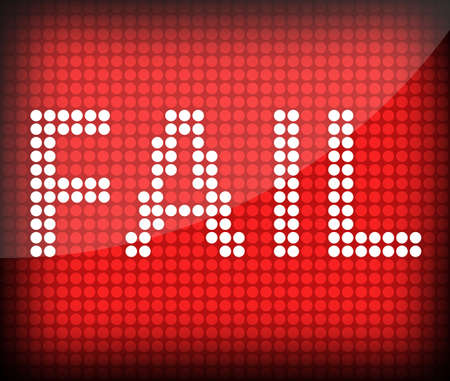 abort: the word Fail on a red background Stock Photo