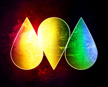 Colored drops on a grunge background Stock Photo - 12706966