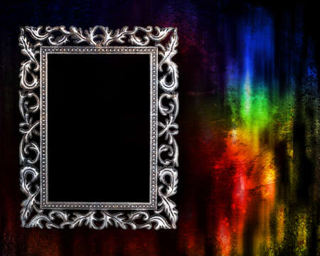 frame on a glowing grunge background photo