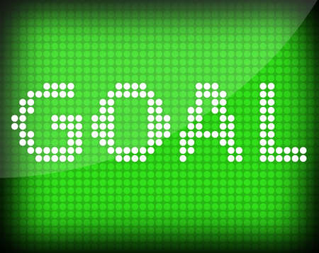intent: goal text on a green background