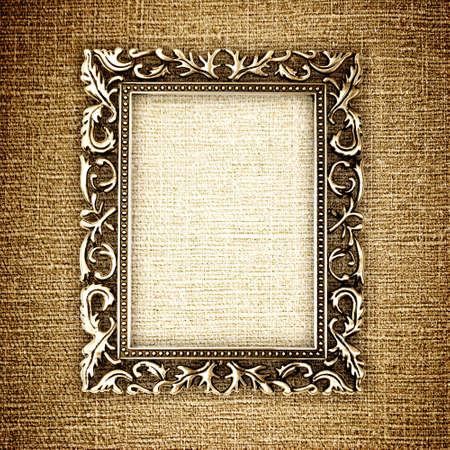 golden frame on canvas photo