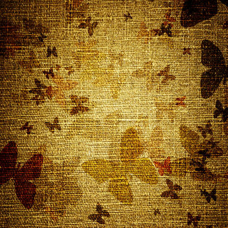 abstract grunge butterflies on canvas photo