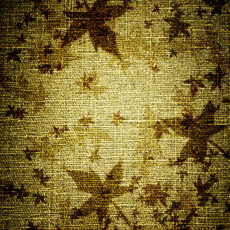 abstract grunge leaves on canvas photo
