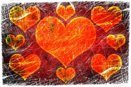 Grunge love background photo