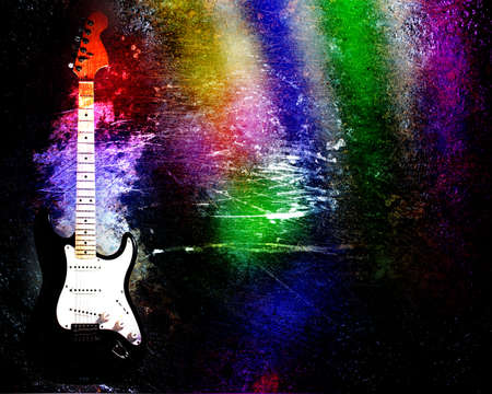 guitare colore grunge photo