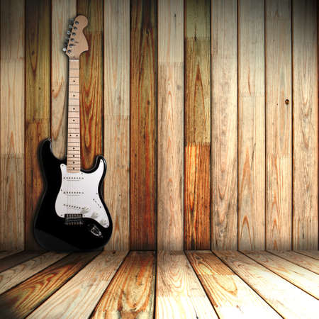 guitar in old room